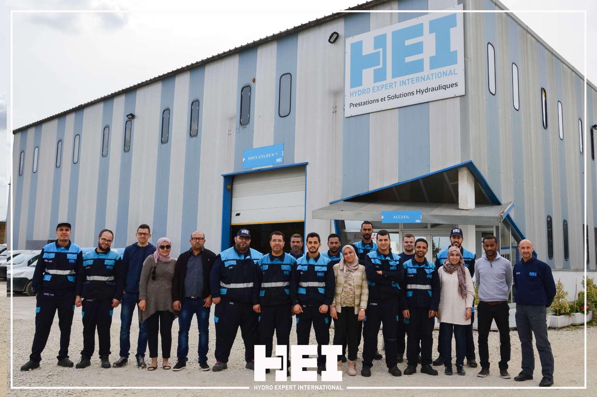 HEI, une entreprise spécialisée dans les services et solutions hydrauliques pour l'industrie en Tunisie.