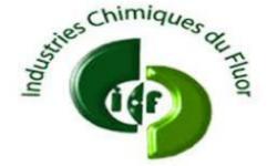 Logo Industries Chimiques du Fluor, partenaire HEI Tunisie.